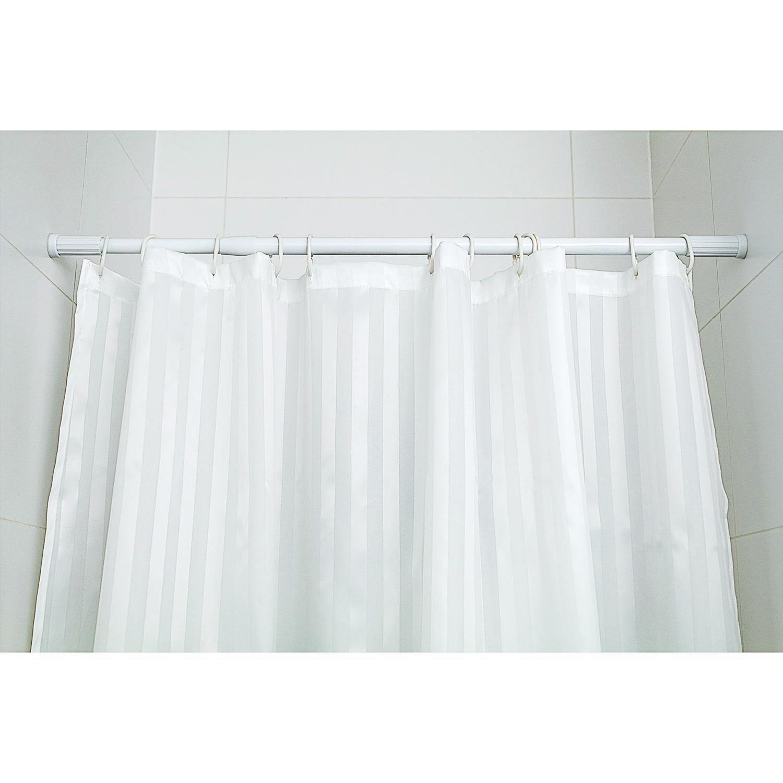HomeBathroomBathroom ShowerShower Curtains RodsTatkraft Thorin Telescopic Shower Curtain Rod Extendable White 70 120 Cm 19 22 Aluminium
