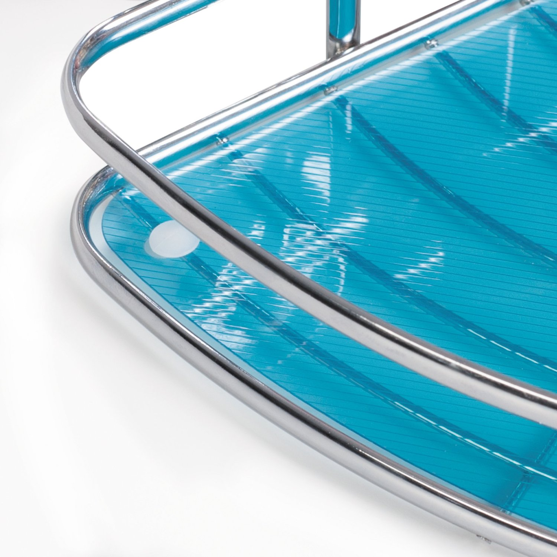 Tatkraft Kaiser Compact 2 Tier Corner Bathroom Rack Shower Caddy ...