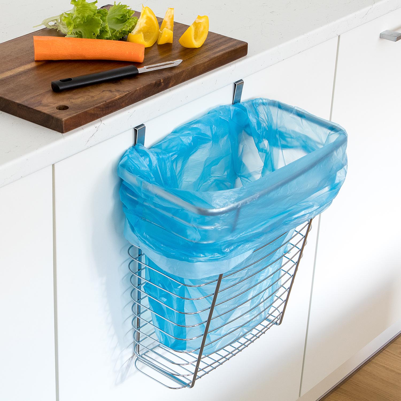 Tatkraft Top Over The Cabinet Door Hanging Waste Basket & Storage ...