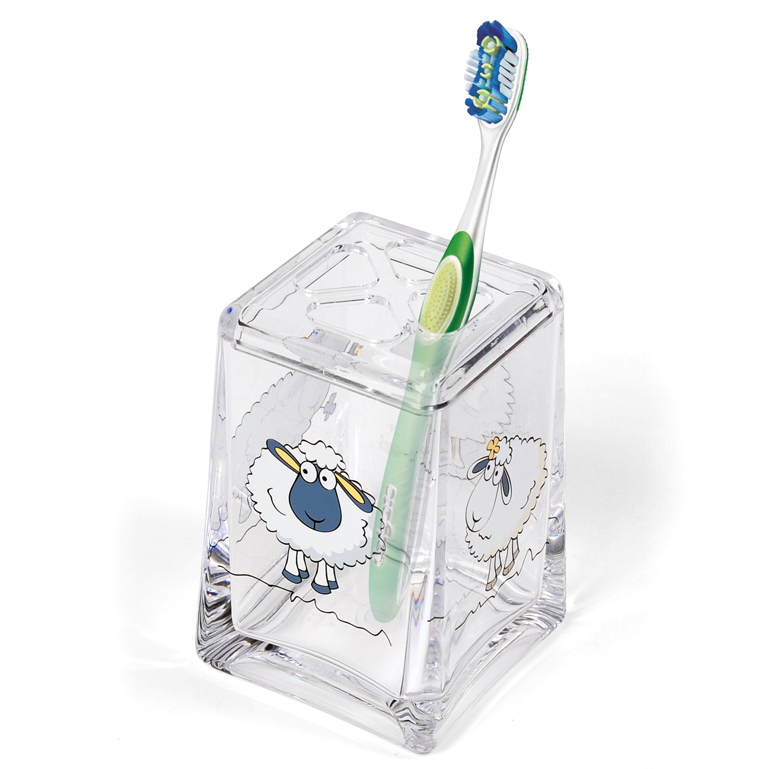 Tatkraft Funny Sheep Bathroom Accessories Set: Clear Toothbrush ...