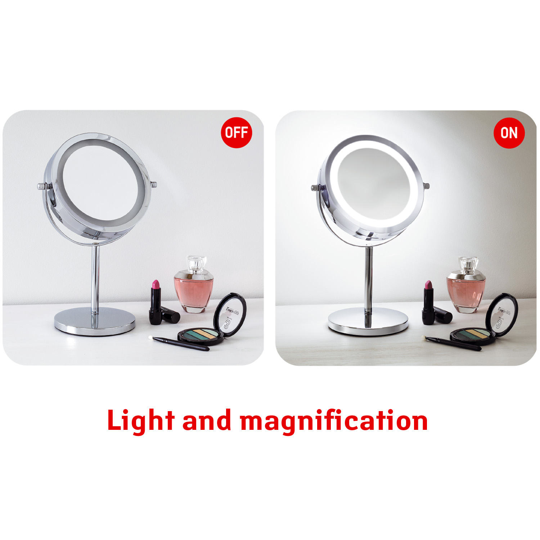 Tatkraft Lux Makeup Led Mirror Rotating 3x Magnification