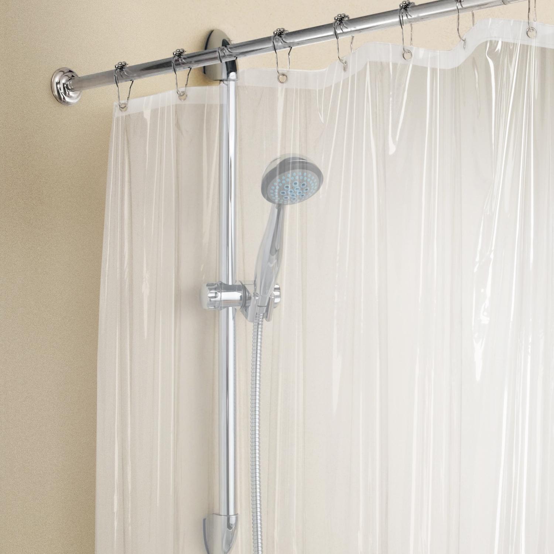 Tatkraft Gleam Clear Shower Curtain Liner Waterproof PEVA 180 X 180 Cm With  Bottom Magnets   Tatkraft
