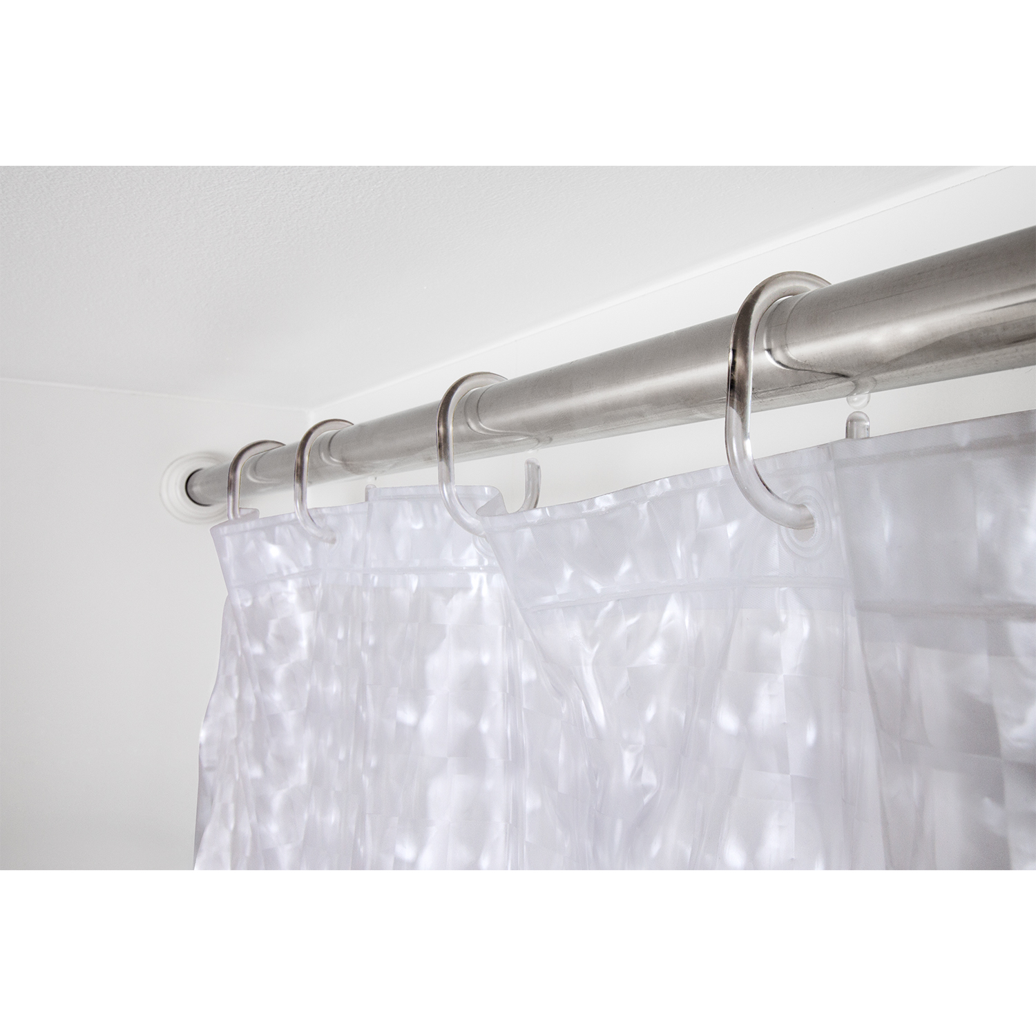 Tatkraft Ice Set Of 12 Transparent Shower Curtain Hooks C Style