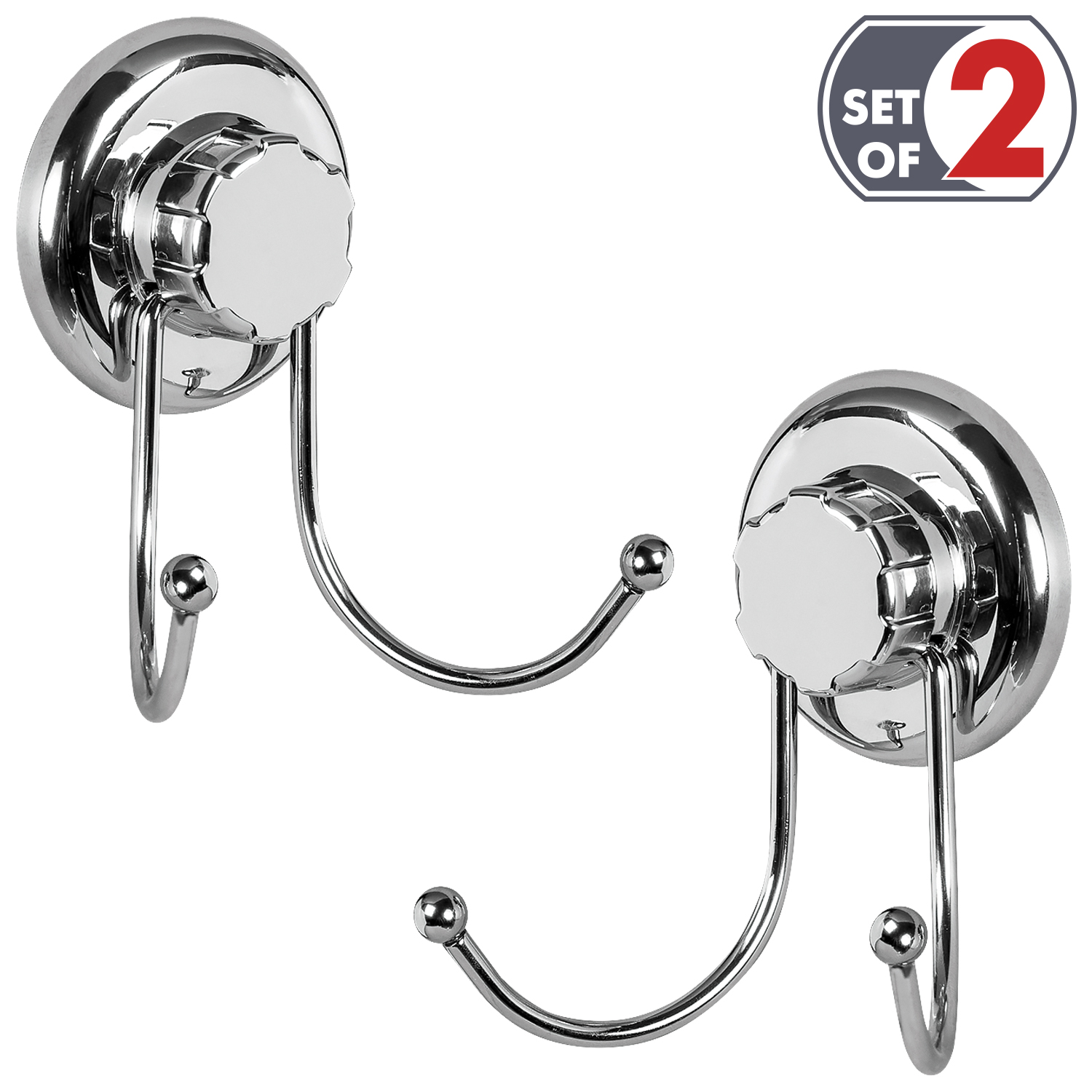 Tatkraft Megalock Suction Hooks for Bath Towel, Tea Towel, Kitchen ...