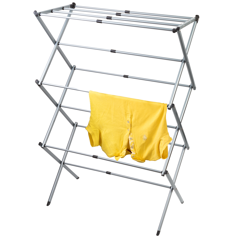 art moon gobi extendable telescopic clothes airer drying horse 17 45 39 39 length rustproof durable. Black Bedroom Furniture Sets. Home Design Ideas