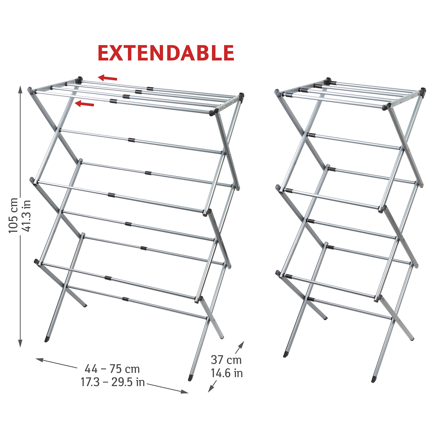 Art Moon Gobi Extendable Telescopic Clothes Airer Drying