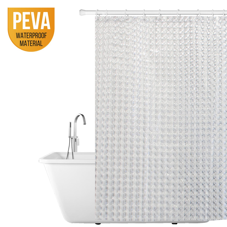 Tatkraft Crystal 3d Clear Shower Curtain 180x180cm 100