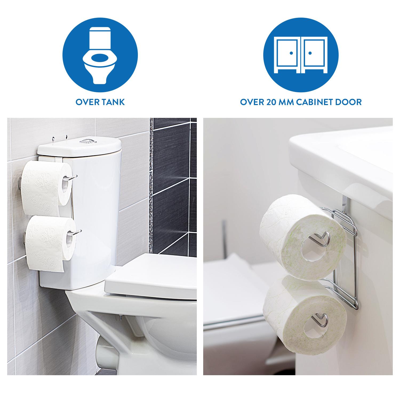 Wonder Worker Clever Over Tank Or Door Toilet Roll Holder Tatkraft