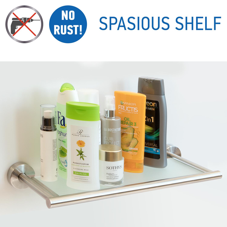 Boon shelf on silicone glue
