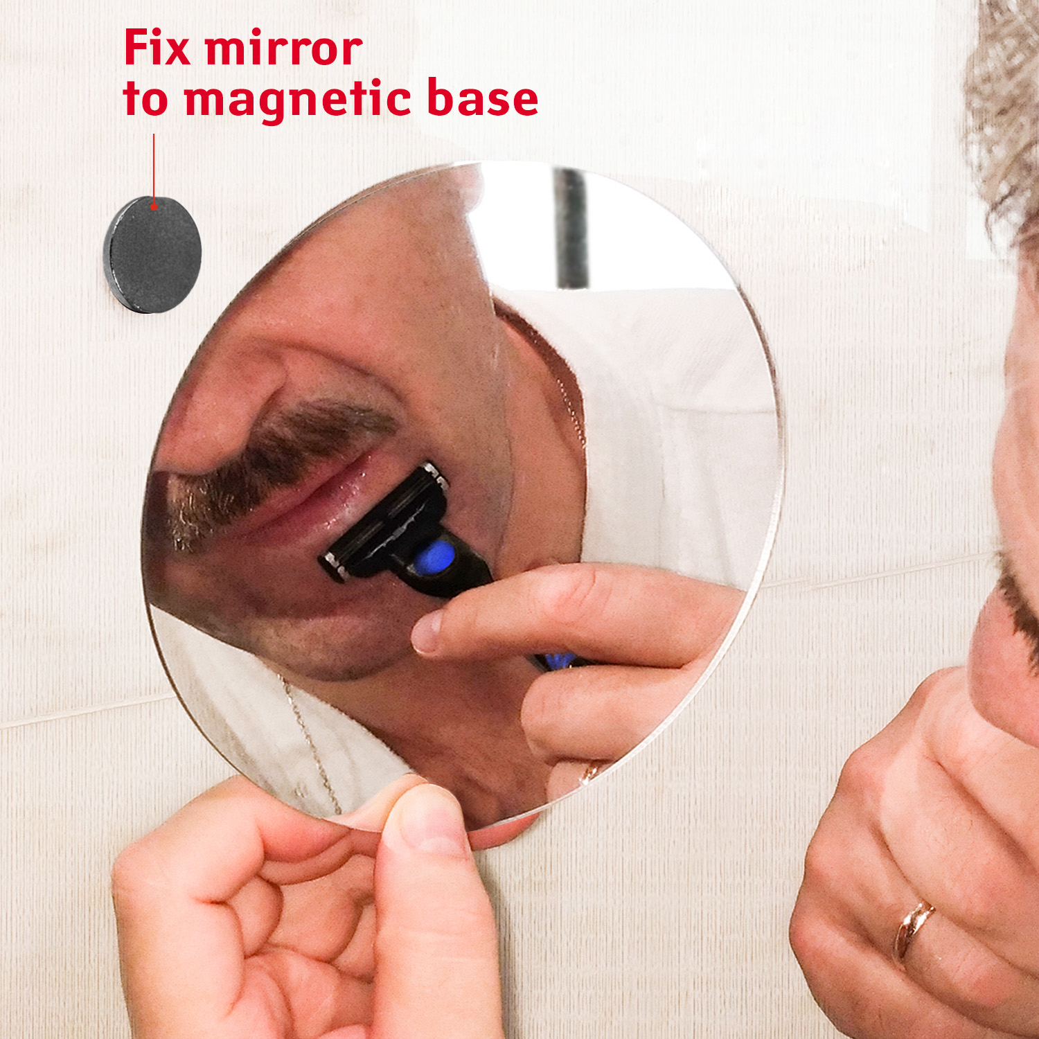 Change mirror on magnetic base