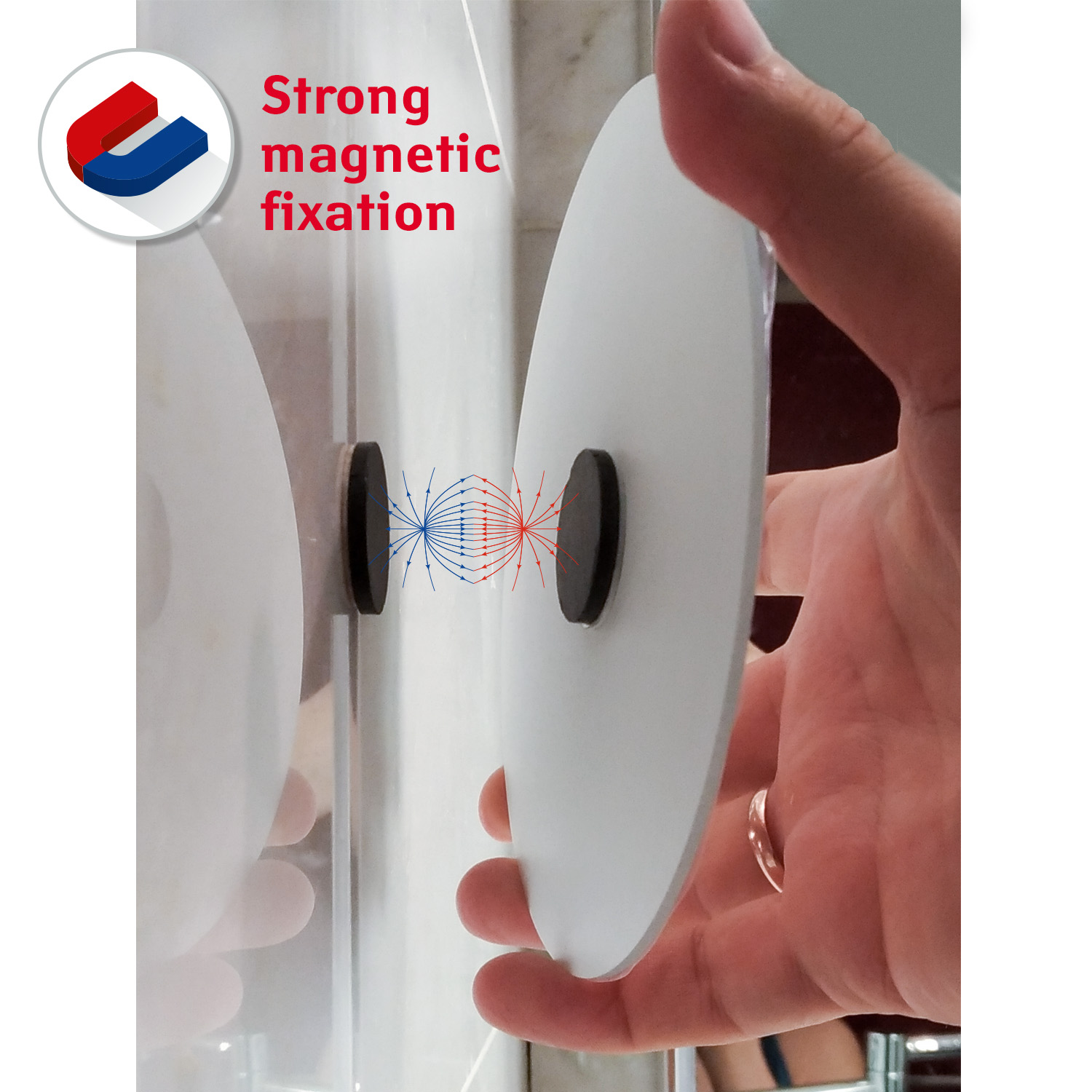 CHANGE self adhesive magnetic fixation